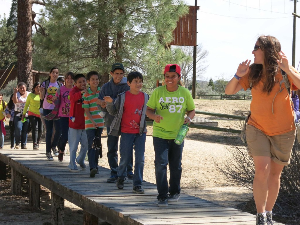 outdoor education bridge at pathfinder ranch