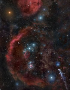 An extraordinary view of constellation Orion.