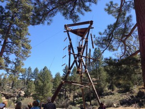 Climbers of all ages love challenging themselves on our Alpine Tower!