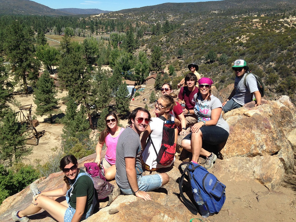 Group picture at the top of our ethnobotany trail