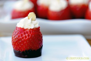 Cheesecake Filled Strawberries from Zestuous